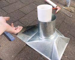 Как сделать вывод вентиляции через крышу
