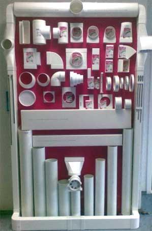 Применение пластика в воздуховодах