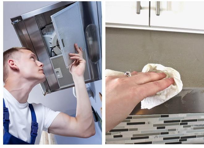 Чистка кухонной вытяжки