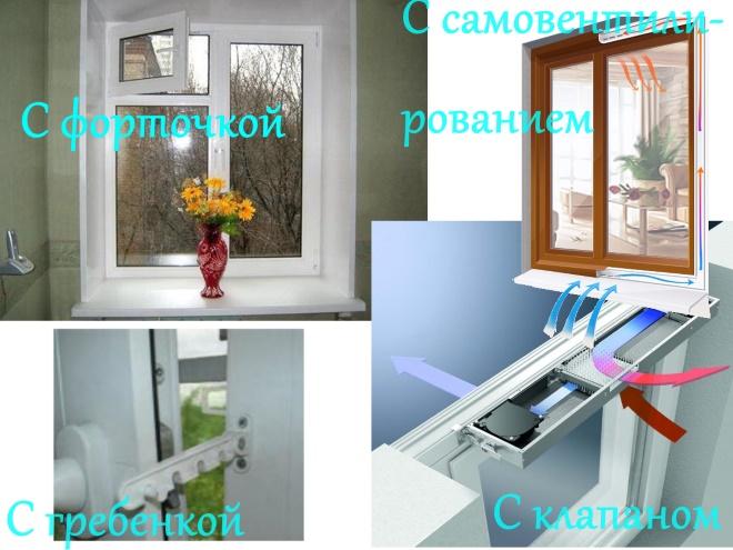 Варианты решения проблем вентиляции в окнах ПВХ