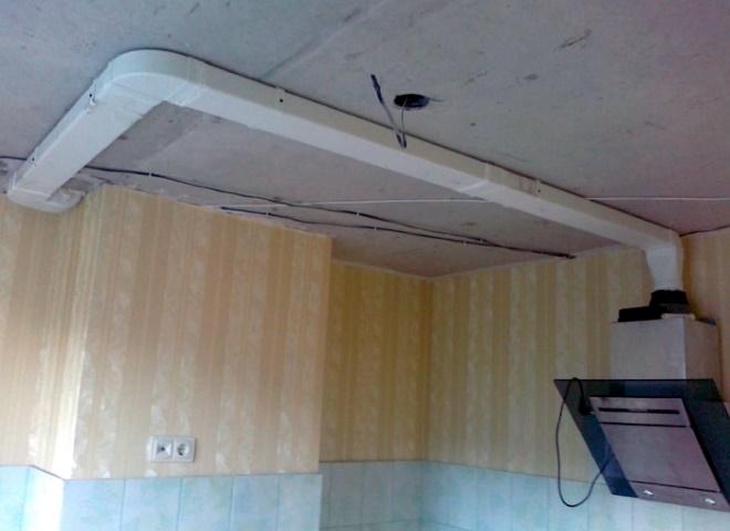 Пример потолочного монтажа